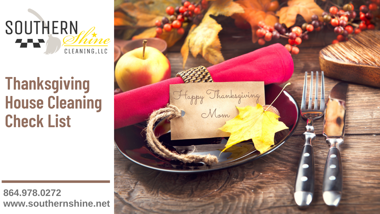Thanksgiving House Cleaning Checklist